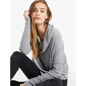 NWT Lucky Brand Tulip-Hem Grey Pullover Sweater